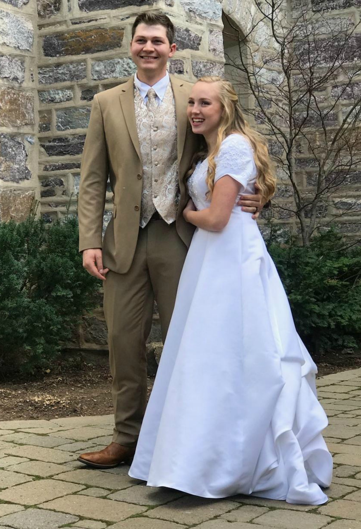 Tan Suits and Wedding Gowns
