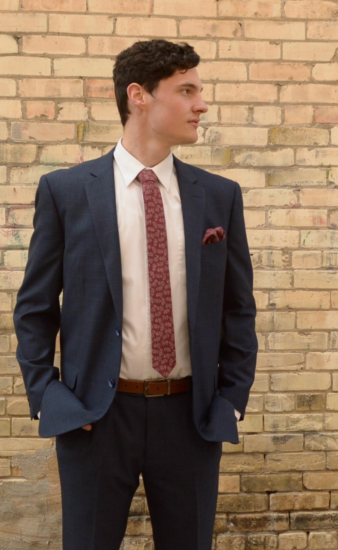Blue Plaid Suit
