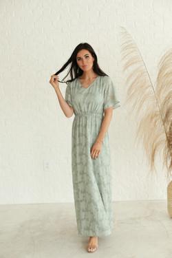 Maura Sage Green Textured Dress