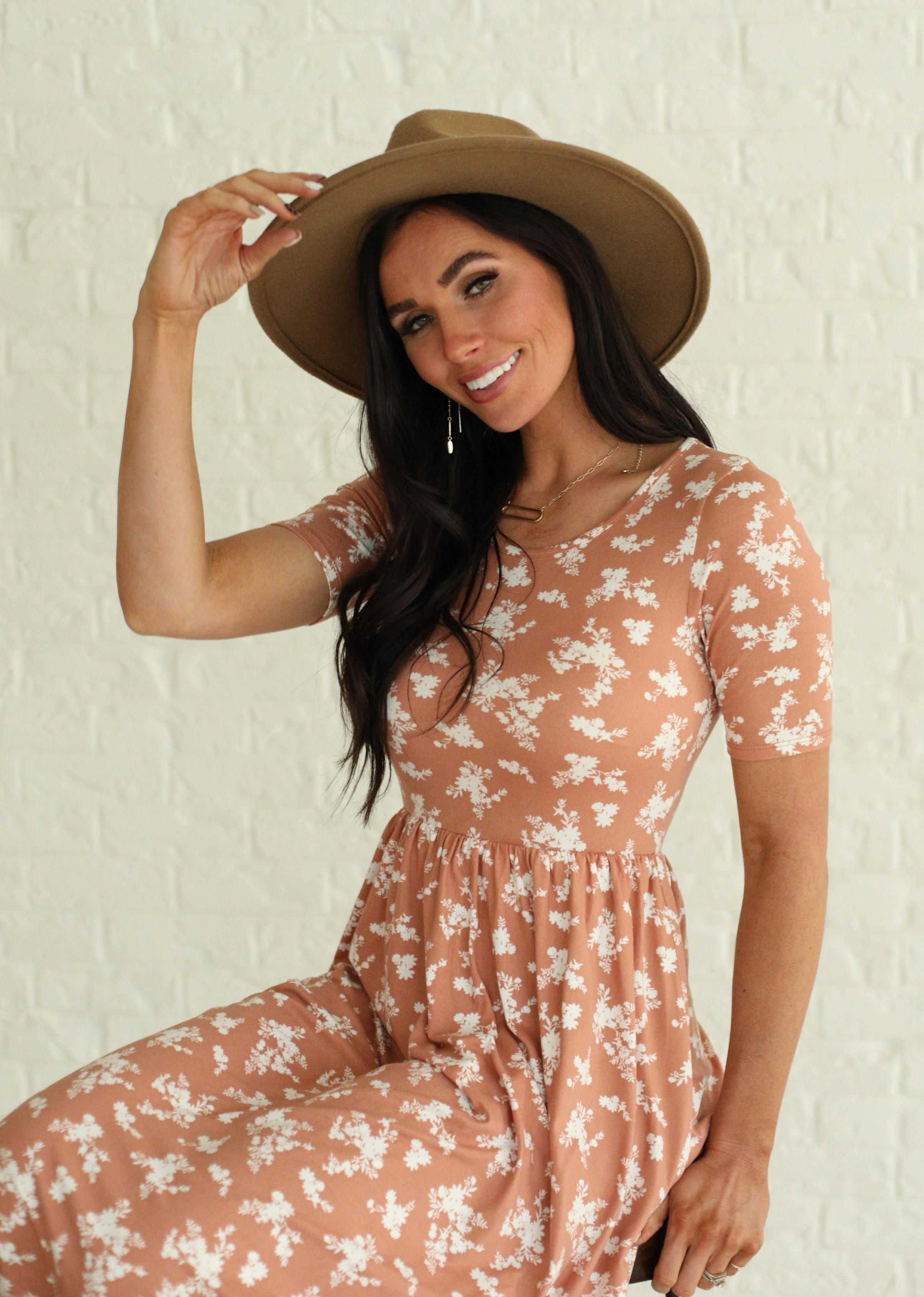 Miranda Melon Floral Maxi