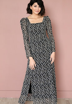 Sequoia Maxi Dress-Black Floral