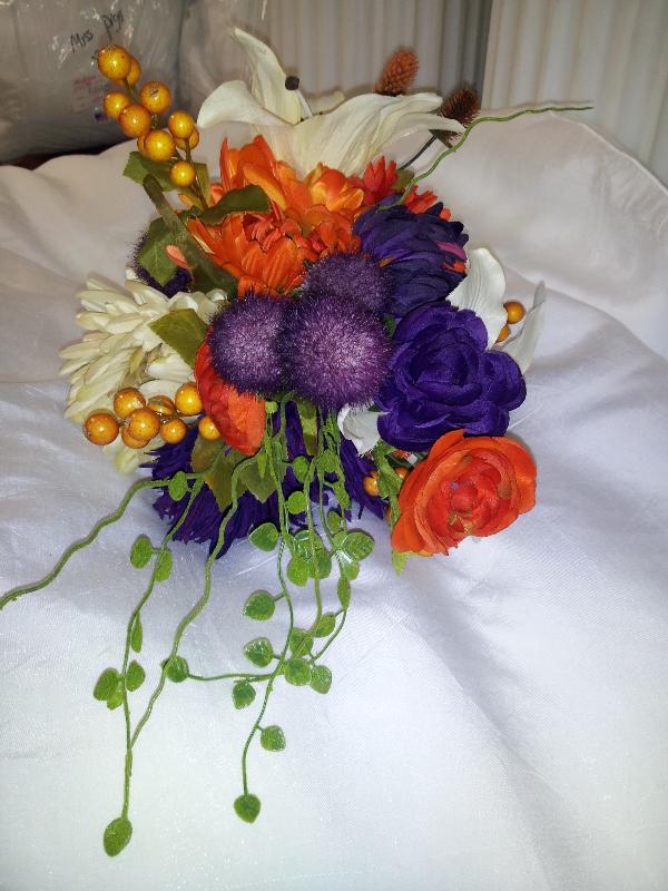 We make silk bouquets