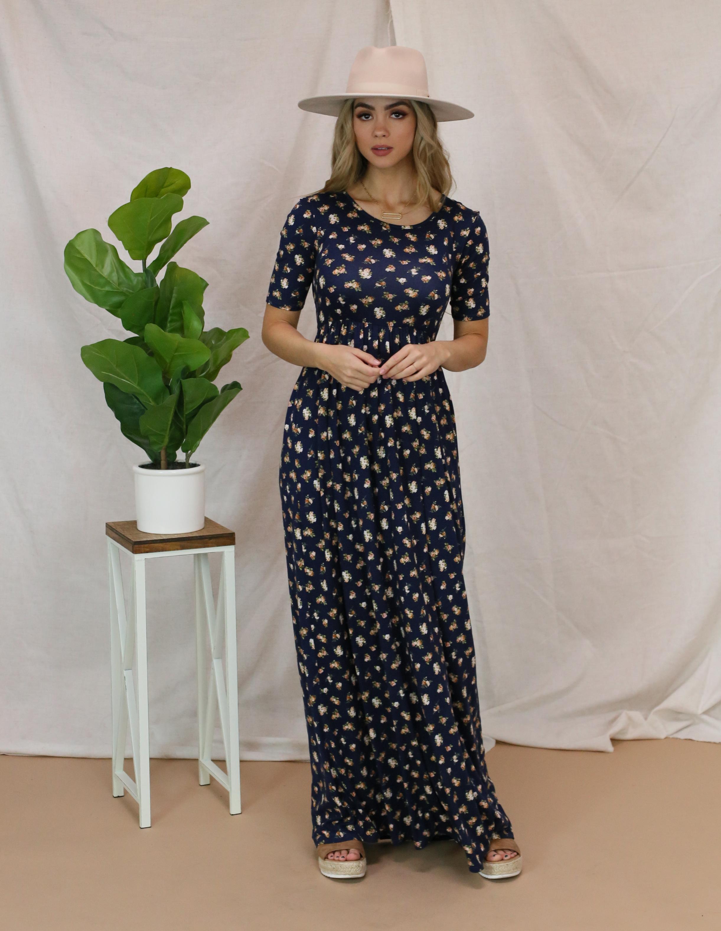 Miranda Blue Floral Maxi