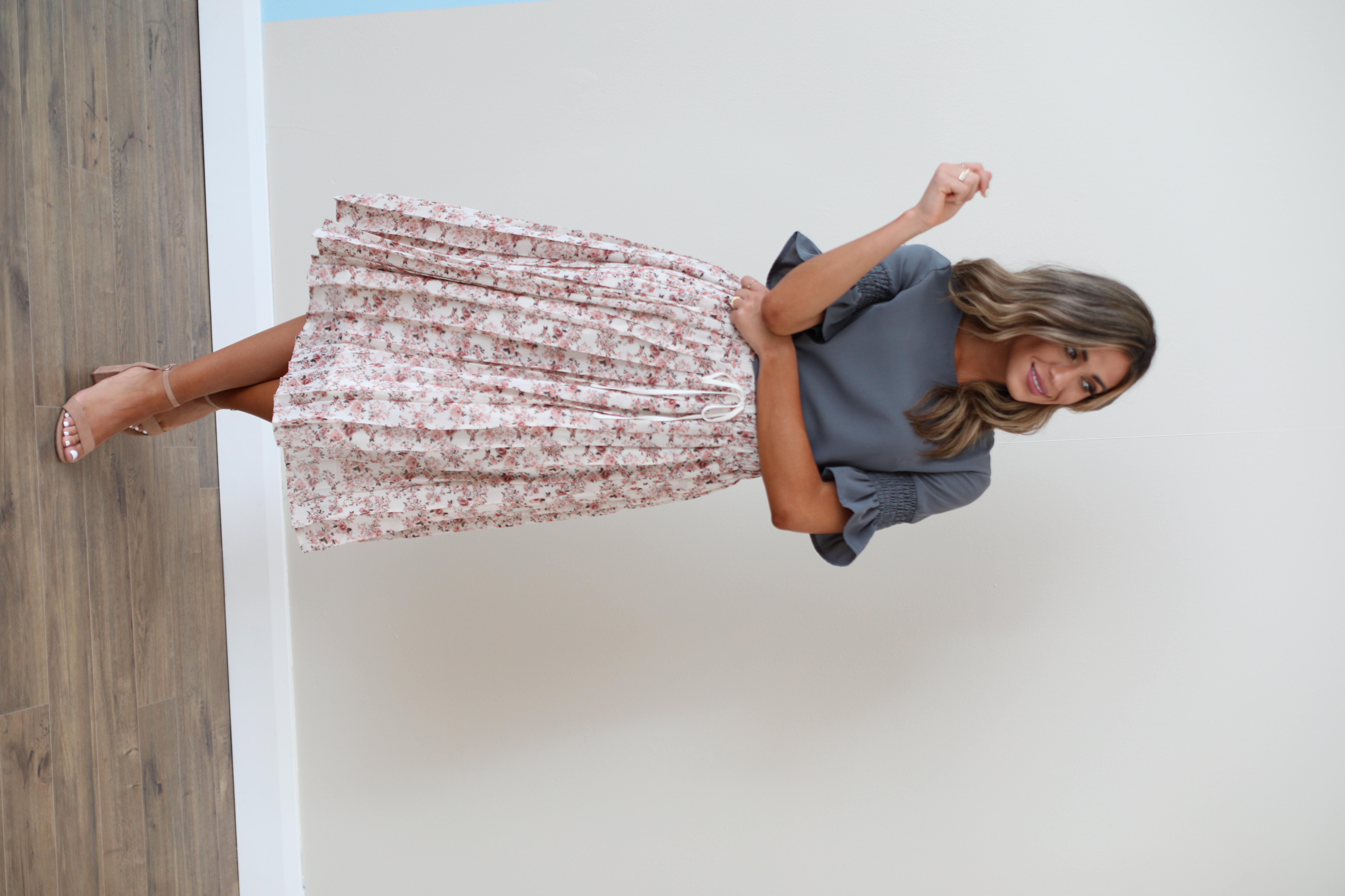 Pleated Skirt-Peony