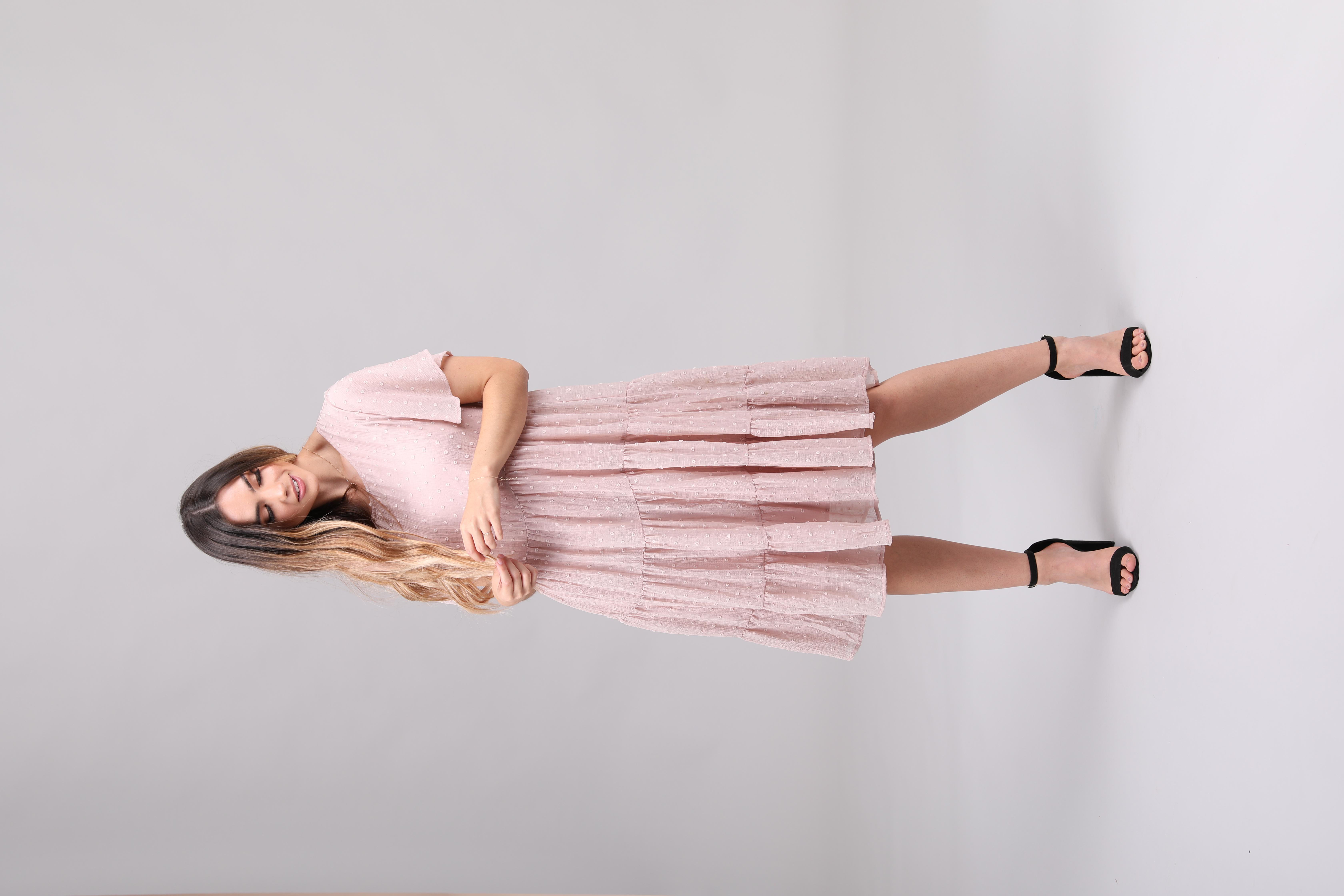 Mikarose Hannah Dress-Pale Rose