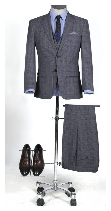 Gray Plaid Suit