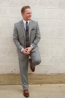 Men's Gray Slim Suit
