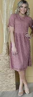 Mabel Dress-Mauve Rose