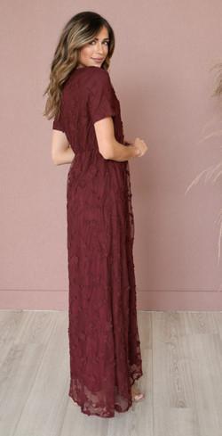 Kinsley Maxi Dress-Burgundy