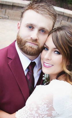 Burgundy Suit for the Groom