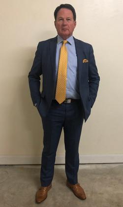 Men's Blue Plaid Suit