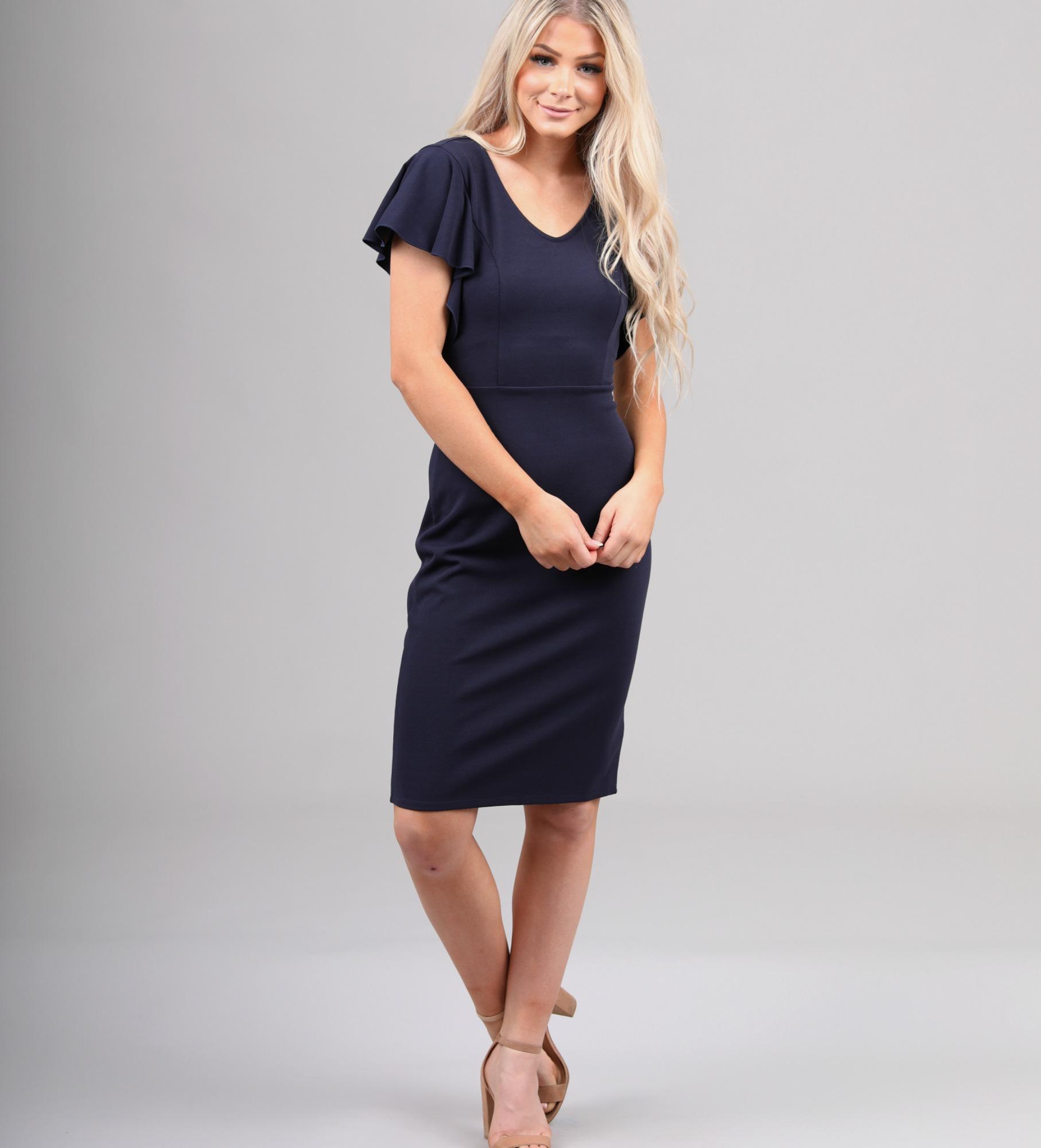 Mikarose Nixon Dress-Navy