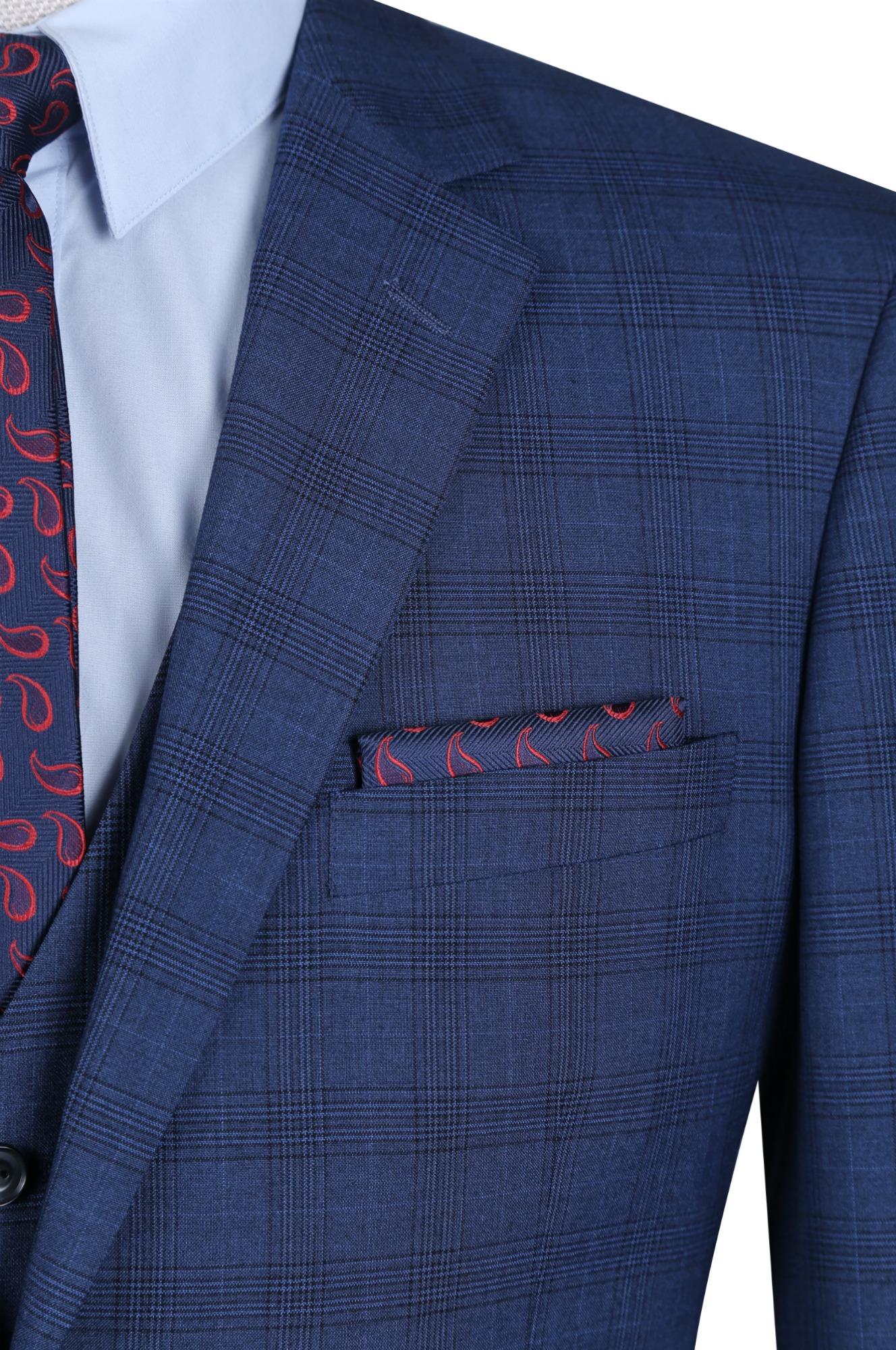 Navy Plaid Suit