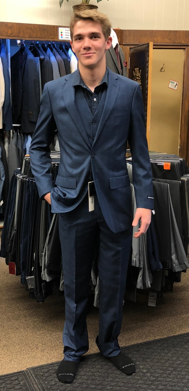 Blue Slim Suits