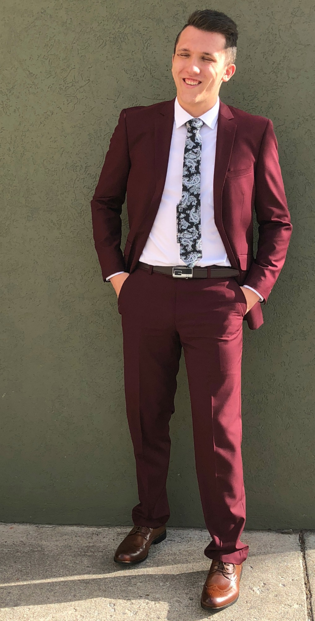 Burgundy Suits