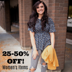 All Women's Items 25-50% OFF