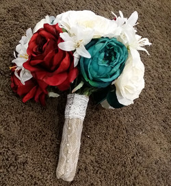 Red & Teal Bouquet