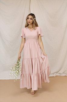 Eden Maxi Dress-Mellow Rose Pink