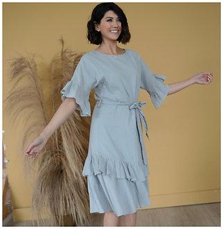 Mikarose Brynn Dress-Dusty Blue