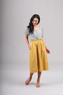 Mikarose Golden Tea Length Skirt