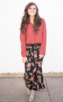 Floral Maxi Skirt $15 In store only