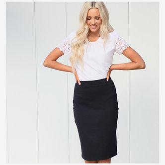 Mikarose Black Pencil Skirt