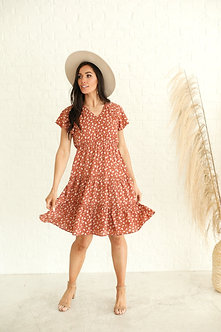 Finley Auburn Floral Dress