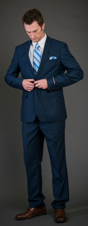 Blue Slim Suit