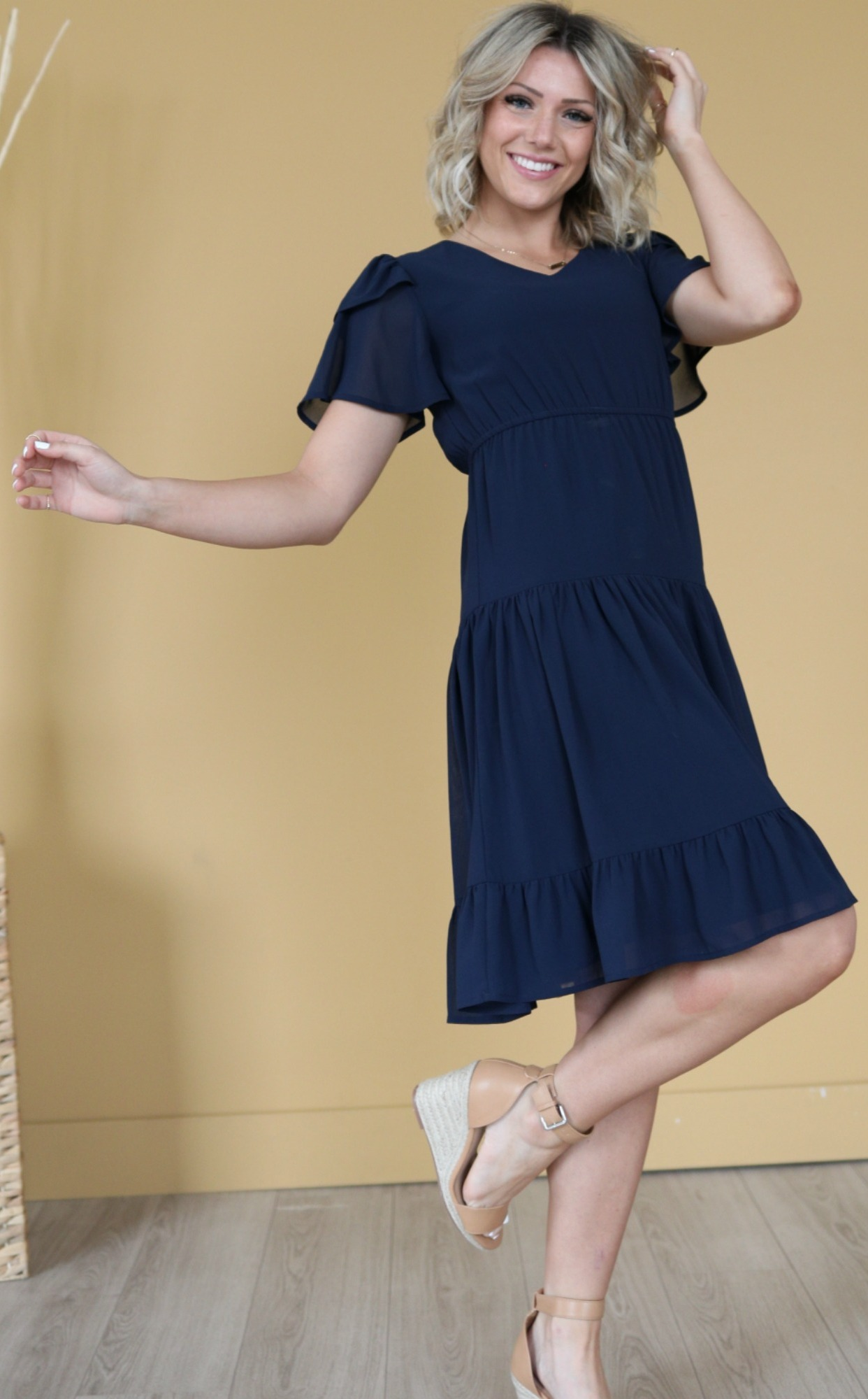 Amara Dress-Navy Blue