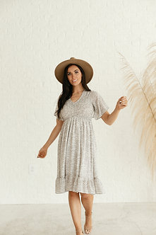 The Frances Dress-Ivory Branches