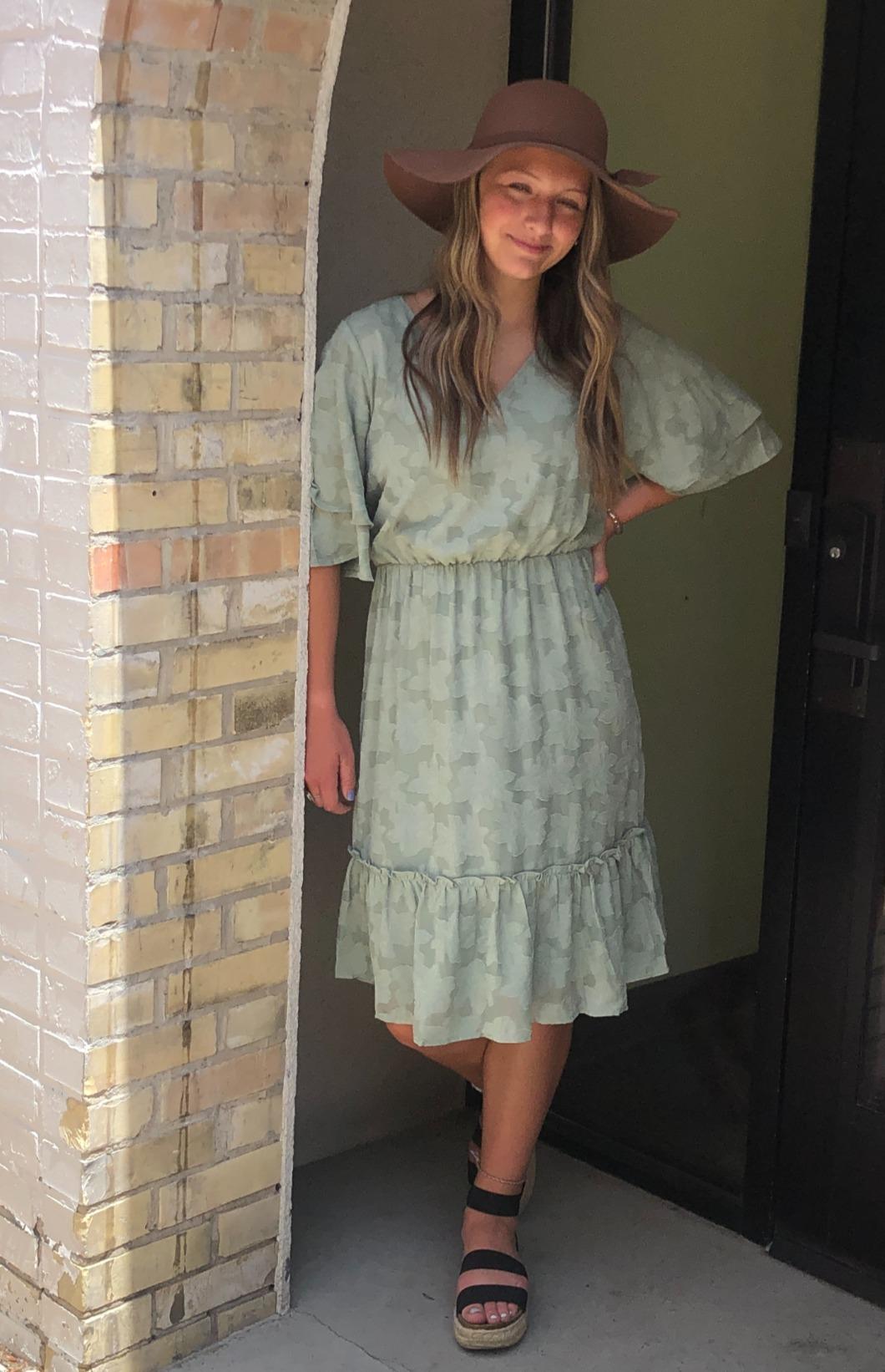 Mikarose Magnolia Dress-Sage