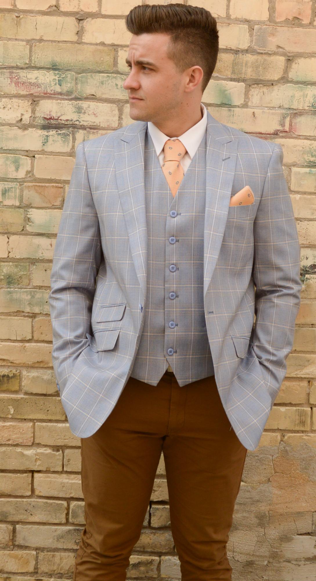 Men's Light Blue Suit