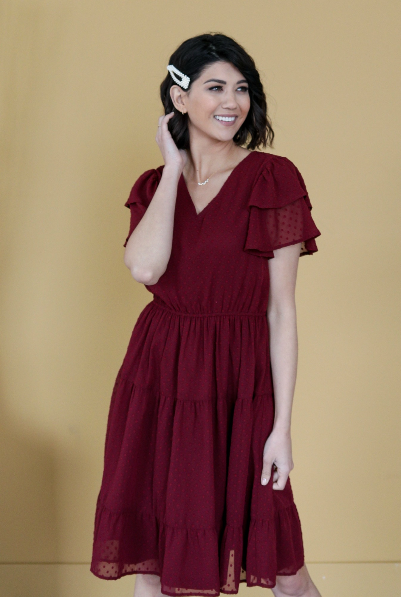 Amy Dress-Burgundy