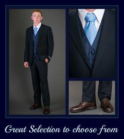 Navy Blue Slim Suit