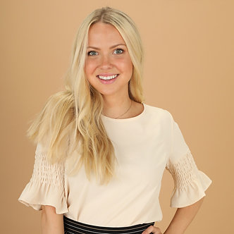 Mikarose Gathered Sleeve Top-Ivory