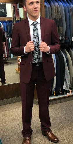 Burgundy Suits
