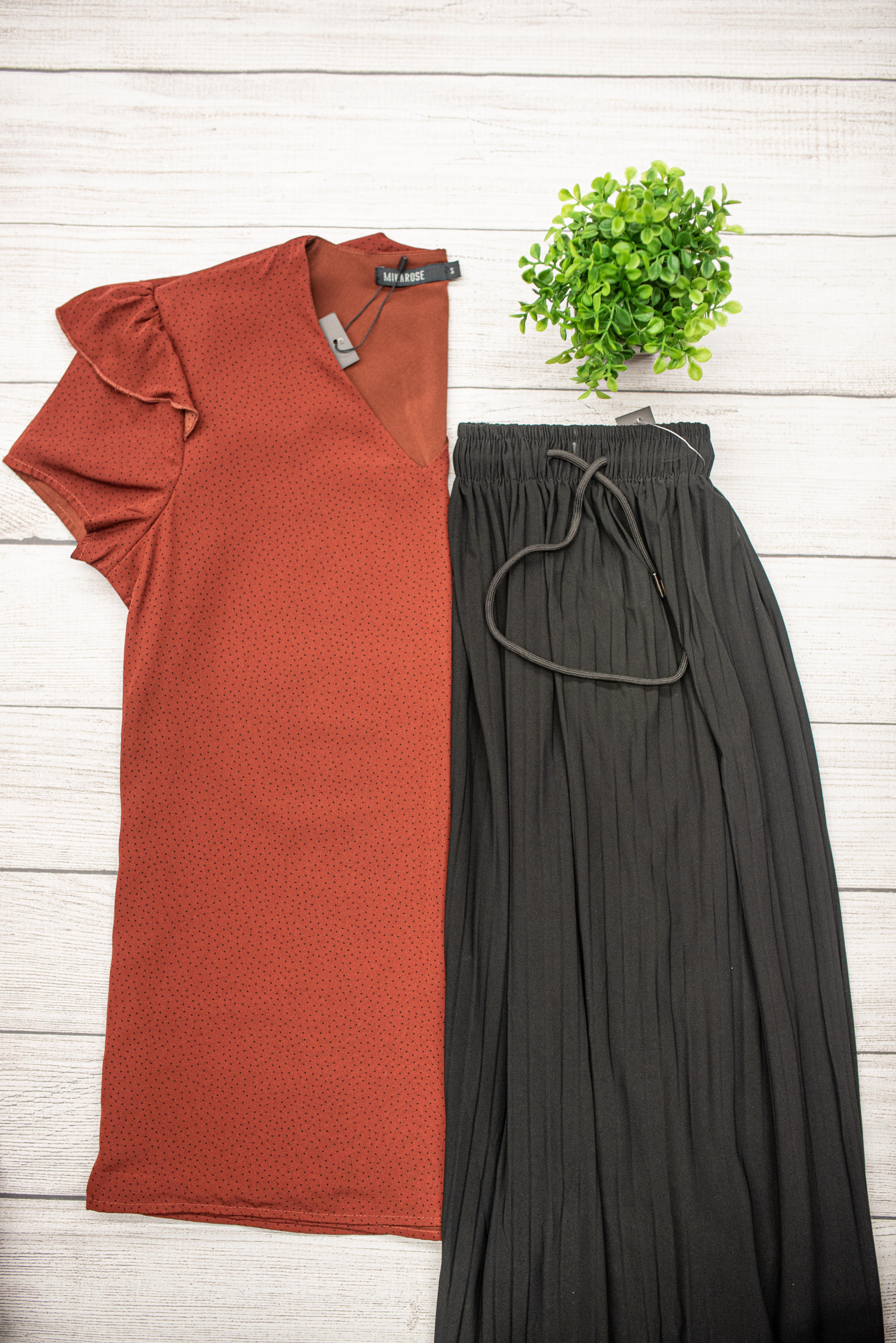Flutter Sleeve Top & Maxi Skirt