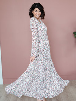 Luca Maxi Dress-Dusty Lilac Floral