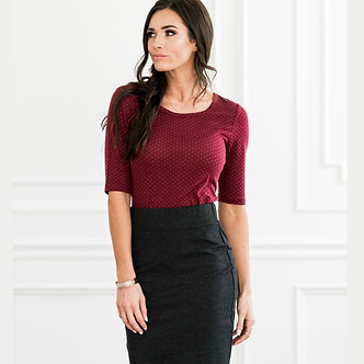 Mikarose Gray Pencil Skirt
