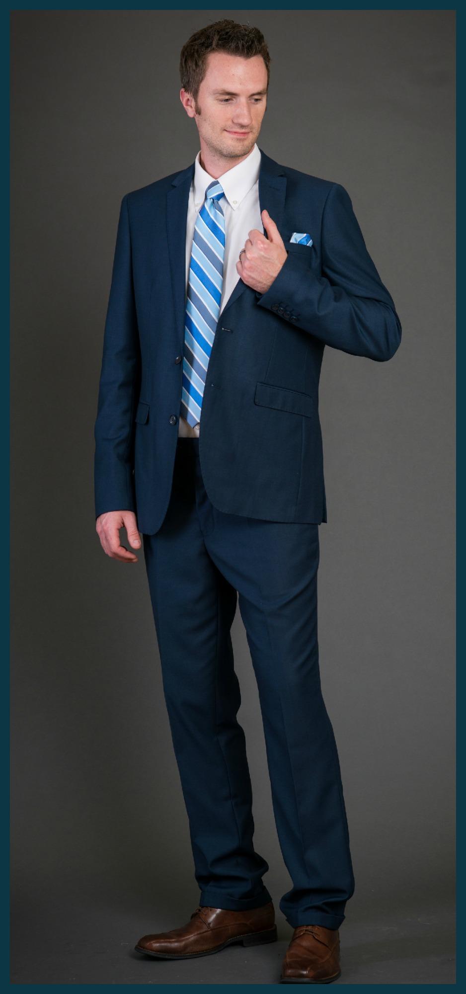 Blue Slim Fit Suits