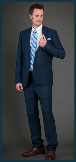 Best Seller.  Slim Fit Blue Suit.