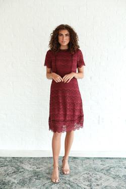 Odette Rosewood Dress