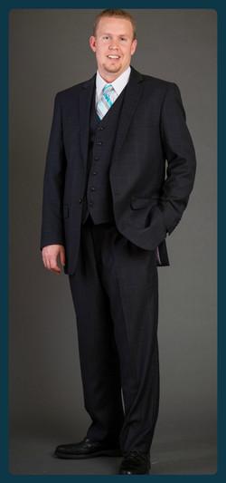 3 piece Black Suit