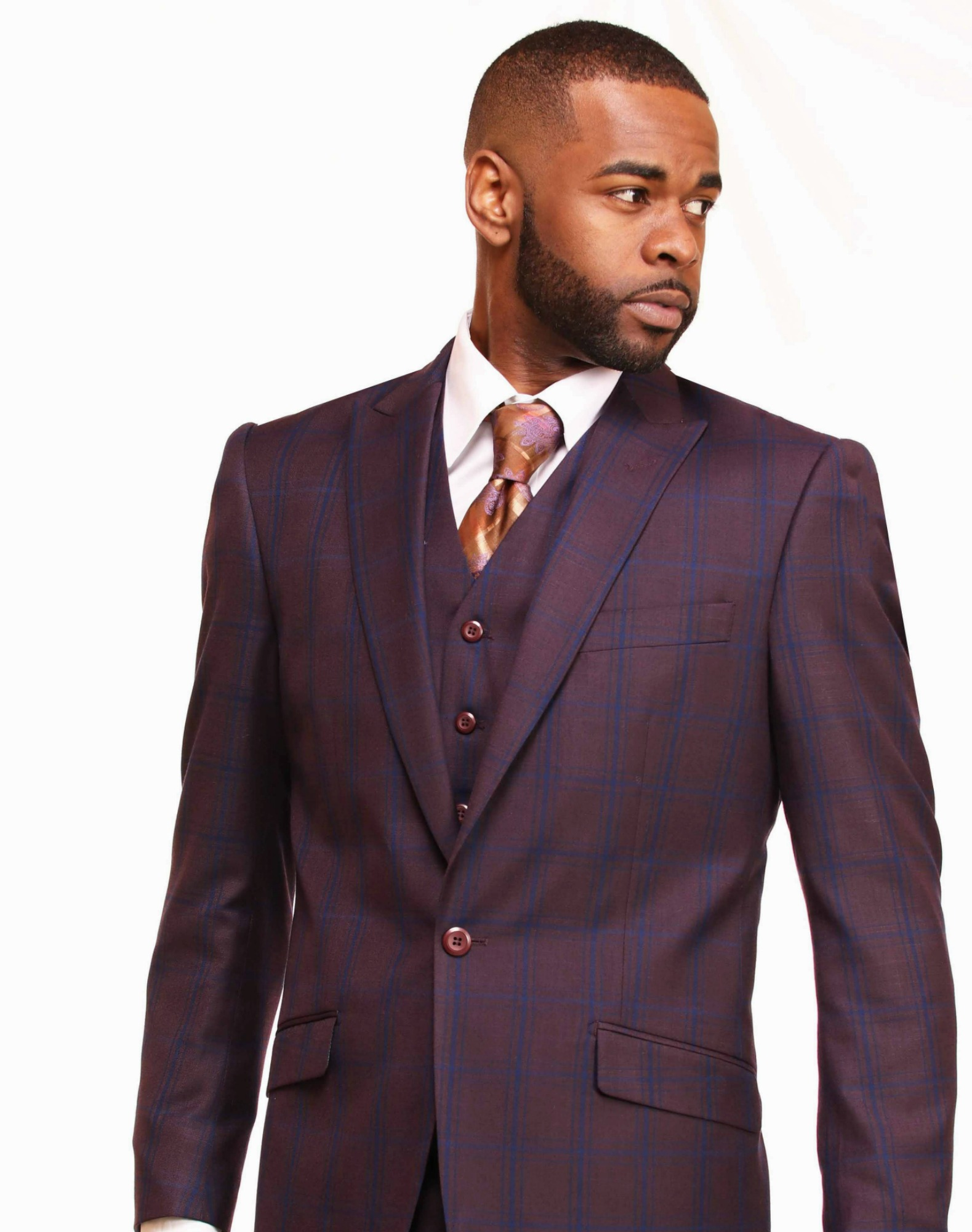 Window Pane Plaid Suit