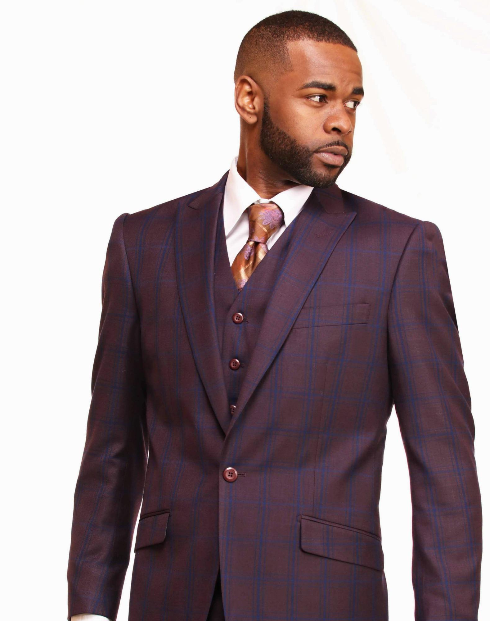 Window Pane Plaid Suit