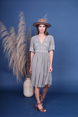The Everleigh Dress-Silver Sage