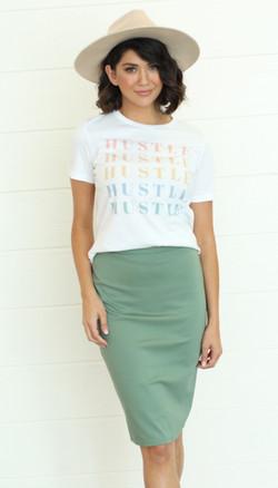 Pencil Skirt-Seafoam