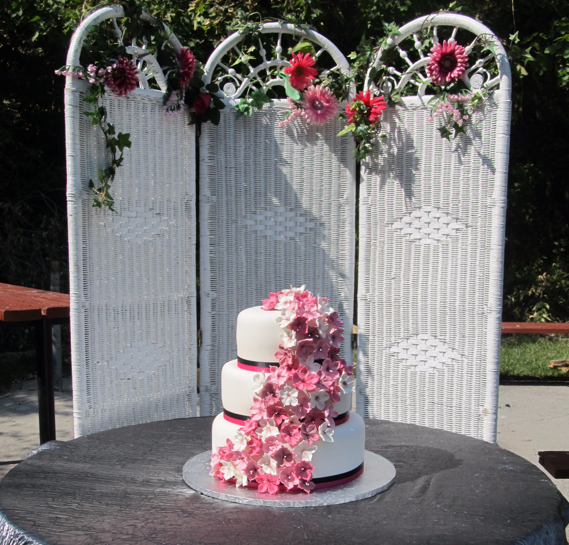 White Wicker Cake Backdrop