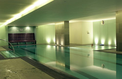Glass Wall at Indoor Pool