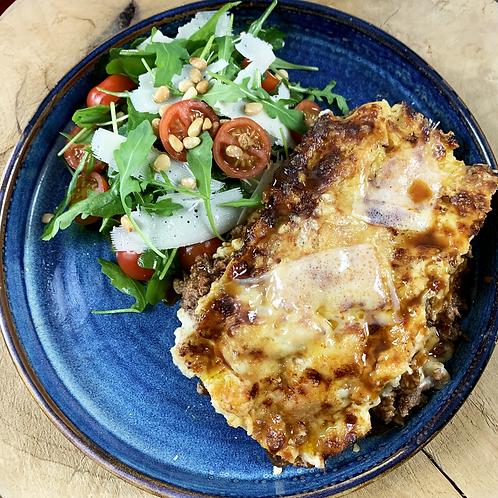 Tray bake lasagne serves 1